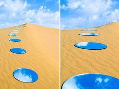 イランのアーティスト、Shirin Abediniradの鏡を使ったインスタレーション