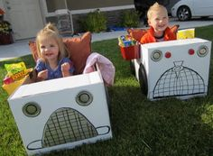 """drive in movie car tutorial! so cute for family movie nights! I've seen this a couple of times on Pinterest, such a cute and fun idea to have kids decorate their """"cars"""" for drive-in movie night :)"""