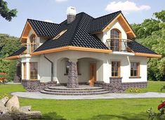 Ariadna III - zdjęcie 1 Simple House Design, Cool House Designs, Style At Home, House Plants Decor, Small Windows, Affordable Housing, Bay Window, Home Fashion, Architecture Details