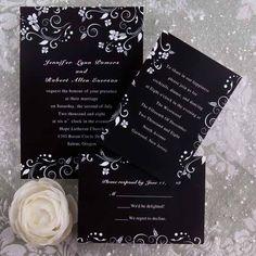 drifting petals folded wedding invitations ukf