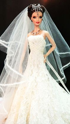 barbie and fashion doll - Yahoo Canada Image Search Results Barbie Bridal, Barbie Wedding Dress, Barbie Gowns, Barbie Dress, Barbie Clothes, Wedding Dresses, Barbies Dolls, Dolls Dolls, Beautiful Barbie Dolls