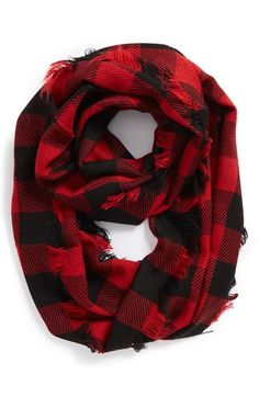 Steve Madden Buffalo Plaid Infinity Scarf | Nordstrom