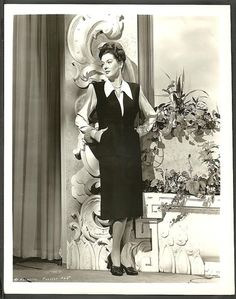 Rosalind Russell Original 1940s Portrait Photo Fashion