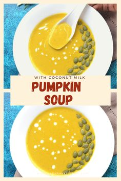 Pumpkin soup with coconut milk is a comforting homemade soup. This vegan pumpkin soup is perfect to have during the winter and fall. Fall soup recipes made with fresh pumpkin is best and easy to make and is very healthy. It gets ready in 30 minutes. This is a perfect pumpkin soup recipe to make for Thanksgiving and Halloween. This is one of the best pumpkin recipes and can be made with canned pumpkin too. Try this simple creamy pumpkin soup from scratch. You will love it. Get the recipe now. Vegan Pumpkin Soup, Creamy Pumpkin Soup, Canned Pumpkin, Coconut Milk Soup, Coconut Milk Recipes, Fall Soup Recipes, Pumpkin Recipes, Best Pumpkin, Homemade Soup
