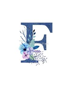 Monogram F Icy Winter Bouquet by floralmonogram – Best of Wallpapers for Andriod and ios Alphabet Wallpaper, Abstract Iphone Wallpaper, Name Wallpaper, Flower Wallpaper, Alphabet Images, Alphabet Art, Letter Art, Beautiful Flowers Wallpapers, Cute Wallpapers