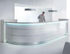 Valde reception desk with LED lights