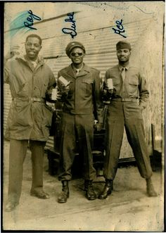 Ray, Duke and Ace  WWII [Black Soldier Series]  [From Duke's Album, 1939-45]  ©WaheedPhotoArchive, 2011