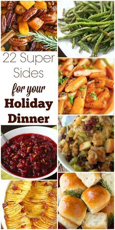 Brunch Ideas Discover 22 Super Sides for Your Holiday Dinner Turkey may be the main event but side dishes are just as important. Check out this collection of delicious sides for your Thanksgiving or Christmas dinner. Christmas Dinner Sides, Traditional Christmas Dinner, Christmas Side Dishes, Christmas Lunch, Holiday Dinner, Christmas Dinner Recipes, Christmas Turkey, Sides For Turkey Dinner, Christmas Parties