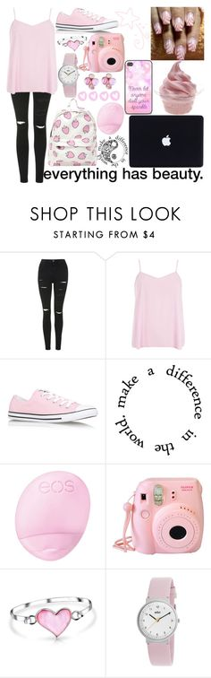 """""""Everything Has Beauty, But Not Everyone Sees It."""" by happiness-can-always-be-found ❤ liked on Polyvore featuring Topshop, Dorothy Perkins, Converse, Disney, Eos, Bling Jewelry, Braun, Ted Baker and rosehassimplesets"""