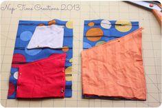 Travel Portfolio Sewing Tutorial |www.nap-timecreations.com