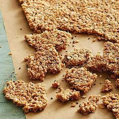 Coconut Chia Oat Squares  - veganize by subbing agave nectar for the honey.