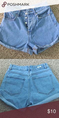 Brandy Melville high waisted jean shorts High waisted jean shorts with 4 buttons Brandy Melville Shorts Jean Shorts