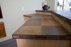 Schluter Tuscany Counter Top Edge Kitchen Counters Outdoor Cabinets Tiled Countertops Slate Countertop Granite