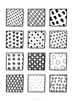 100+ Fun, Easy Patterns to Draw Easy Patterns To Draw, Simple Designs To Draw, Pattern Sketch, Pattern Drawing, Doodle Pages, 100 Fun, Simple Doodles, Basic Shapes, Abstract Shapes