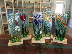 Image result for fused glass flowers