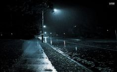 Rainy night HD Wallpaper