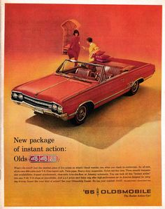 1965 Oldsmobile 442 ci Four Barrel-Original * Magazine Ad – Classic Cars Car Side View, Oldsmobile 442, Car Advertising, Car Posters, Old Ads, Magazine Ads, American Muscle Cars, Vintage Photographs, Vintage Photos
