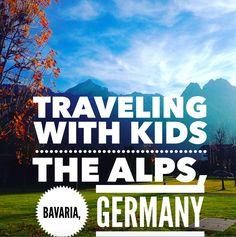 Travel with kids, The Alps, Bavaria, Germany. Garmisch-Partenkirchen.  Alpspitze and Partnach Gorge /Partnachklamm