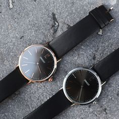 Black watches - available via www.my-jewellery.com | #watches #rose #silver #myjewellery