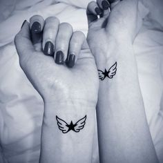small angel wings tattoo idea #ink #girly