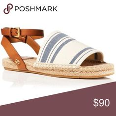 Tory Burch Sandal NWOT in perfect condition-do have box but it's not the right one. Espadrille sandal. No bag for these shoes. Tory Burch Shoes Espadrilles
