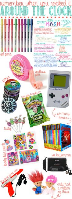 I remember jellies, gameboys, topsy tails, scrunchies, slap bracelets, duck hunter...you know all the classics. And I miss them. What do you remember?