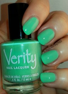 Verity Nail Lacquer Soft Green   Be Happy And Buy Polish