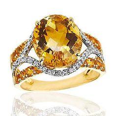 Roberta Z Citrine and Diamond Ring