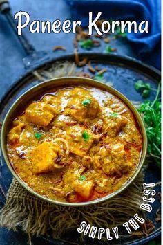 Paneer Korma Recipe, Kurma Recipe, Masala Recipe, Best Paneer Recipes, Curry Recipes, Veggie Recipes, Indian Food Recipes, Vegetarische Rezepte, Bon Appetit