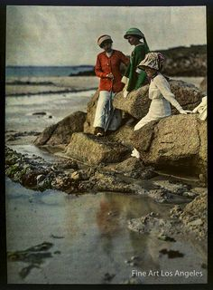 Lady L'Absinthe — Gustave Gain Autochrome Photo, Adeline Gain at...