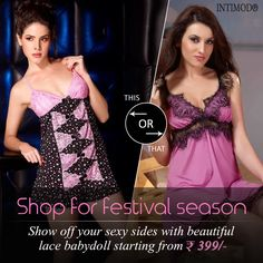 #KarwachauthSpecial Offer - Show Off Your Sexy Sides With Beautiful Lace Babydoll Dresses Starting From ₹- 399/- Only On www.intimodo.com #fashionsale #womenfashion #onlineshopping #womenwear #intimodo #babydolldresses #womendresses