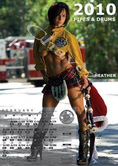 Female firefighter calendar in Houston