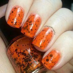 Halloween nail polish 5 ml Mini bottle Handmade vegan ($8.20) ❤ liked on Polyvore featuring beauty products, nail care, nail polish and shiny nail polish