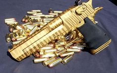 beautiful Desert Eagle with gold camo