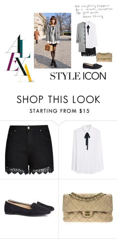 """""""Style Icon: Alexa Chung"""" by tessblake on Polyvore featuring moda, Chanel, City Chic, MANGO, H&M, Windsmoor, alexachung e styleicon"""