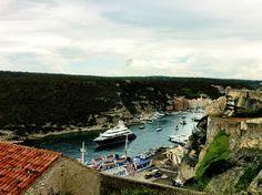 Port in Bonifacio, Corsica, France