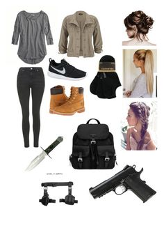 """""""Zombie Apocalypse outfit #3"""" by briannaschumm ❤ liked on Polyvore"""