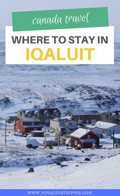 Where to Stay in Iqaluit, Nunavut. Learn about the best hotels in Iqaluit and how to plan your Arctic vacation in Nunavut, Canada. I where to stay in Nunavut I Nunavut hotels I Canada hotels I Nunavut accommodation I accommodation in Nunavut I where to stay in Nunavut I Iqaluit hotels I Nunavut travel I travel in Nunavut I #Nunavut #Canada Canada Destinations, Canada National Parks, Canadian Travel, Best Location, Weekend Getaways, Travel Advice, Travel Guides, Best Hotels, Cool Places To Visit