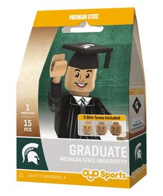 Michigan State Spartans Male Graduate Action Figure Kit