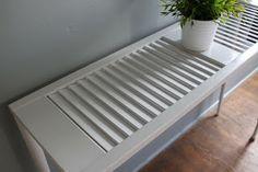 Shutter Table--Re-purpose a shutter into a sofa table.