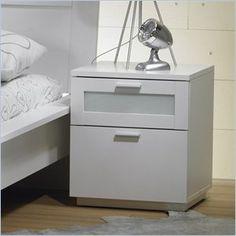 Tvilum Seattle 2 Drawer Nightstand in White