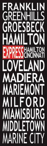 "Cincinnati Loveland"" roll sign"