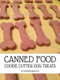 These easy, three ingredient dog treats feature meaty @wildcallingpet  canned dog food as their main ingredient and my dogs LOVE them.
