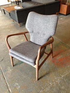 """hey! beautiful pair danish modern """"take it easy"""" chairs"""