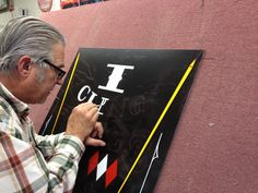 Hand painting panel. SignSmith 2015 Hand Painted Signs, Painting, Painting Art, Paintings, Painted Canvas, Drawings