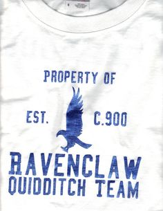 Ravenclaw Quidditch tee. Made for a swap - partner AllyCatAria