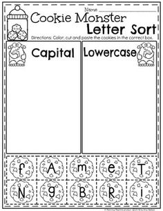 Looking for a fun, Preschool Monster Theme? Alphabet Worksheets, Kindergarten Worksheets, Kindergarten Classroom, Alphabet Activities, Preschool Alphabet, Preschool Learning, Learning Activities, Back To School Worksheets, Preschool Themes