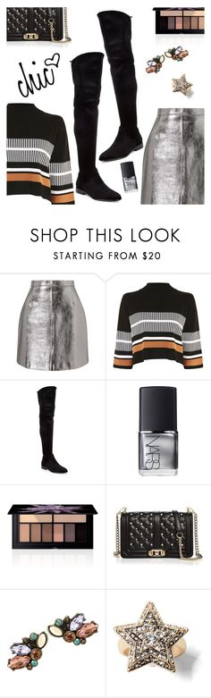 """Outfit of the Day"" by dressedbyrose ❤ liked on Polyvore featuring Miss Selfridge, Native Youth, Donna Karan, NARS Cosmetics, Smashbox, Rebecca Minkoff, ootd and polyvoreeditorial"