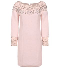 SheIn offers Pink Long Sleeve Beading Dress & more to fit your fashionable needs. Cheap Dresses, Cute Dresses, Casual Dresses, Women's Dresses, Dress P, Pink Dress, Trendy Fashion, Feminine Fashion, Cheap Fashion