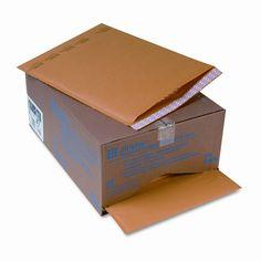 Jiffylite Self-Seal Mailer, Side Seam, #7, Golden Brown, 25/carton